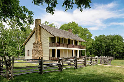 Photograph - Historic Elkhorn Tavern by James Barber