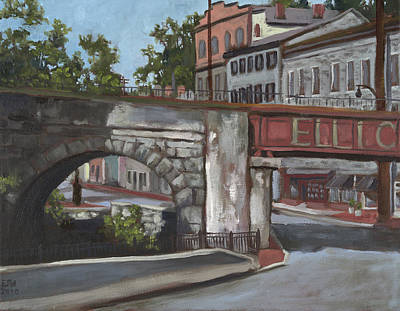 Historic Ellicott City  Art Print by Edward Williams