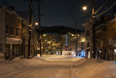 Historic Ellicott City In Snow Art Print