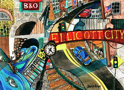Painting - Historic Ellicott City Steam And Stone by David Ralph