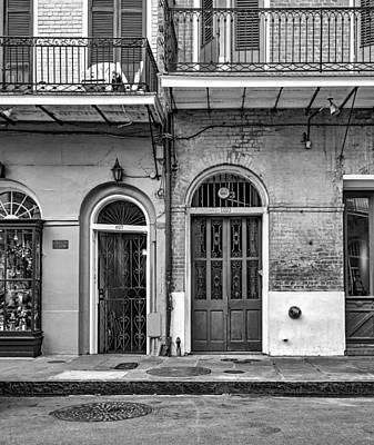 Historic Entrances Bw Art Print by Steve Harrington