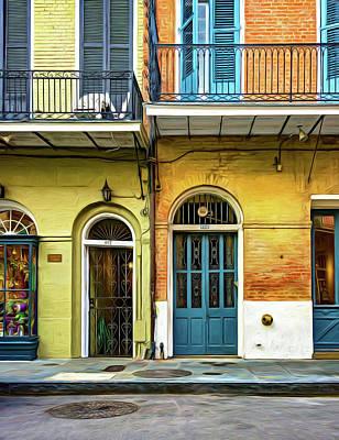 Historic Entrances - Paint Art Print by Steve Harrington