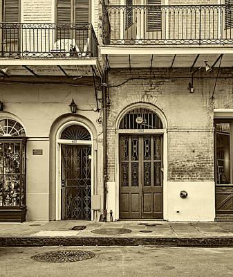 Historic Entrances - Sepia Art Print by Steve Harrington