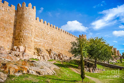 Photograph - Historic European City Walls by JR Photography