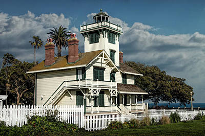 Photograph - Historic Fermin Point Lighthouse In Los Angeles by Randall Nyhof