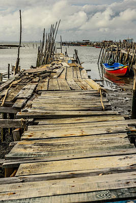 Historic Fishing Pier In Portugal I Original by Marco Oliveira
