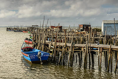 Historic Fishing Pier In Portugal II Original by Marco Oliveira