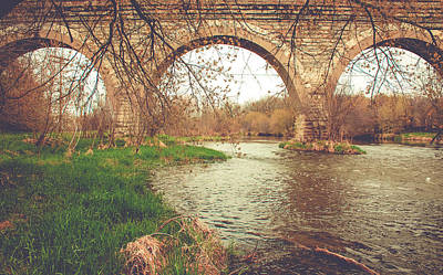 Photograph - Historic Five Arch Bridge by Viviana  Nadowski