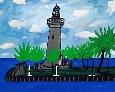 Painting - Historic Florida Lighthouse Painting. Original by Jonathon Hansen