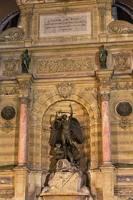 Photograph - Historic Fontaine Saint-michel by Hany J