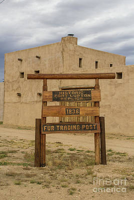 Photograph - Historic Fort Lupton by Steven Parker