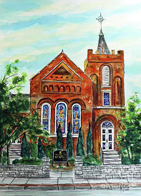 Franklin Tennessee Painting - Historic Franklin Presbyterian Church by Tim Ross