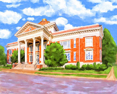 Art Print featuring the painting Historic Georgia Southwestern - Americus by Mark Tisdale