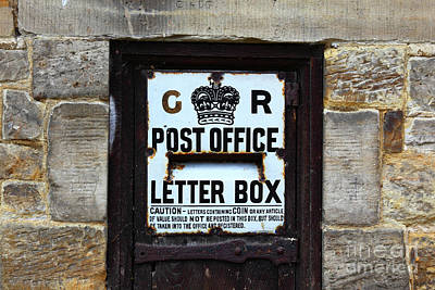 Mail Box Photograph - Historic Georgian Letter Box Detail by James Brunker