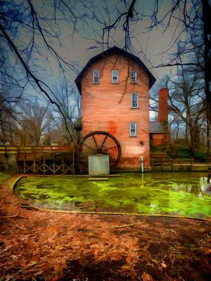 Photograph - Historic Grist Mill In Hobart, In by Jeffrey Platt
