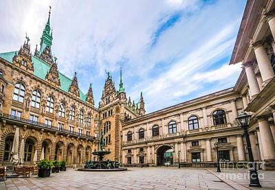 Hamburg Photograph - Historic Hamburg Town Hall by JR Photography