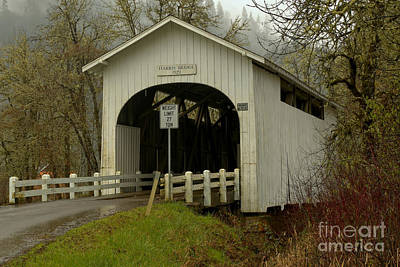 Photograph - Historic Harris Covered Bridge by Adam Jewell