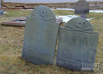 Easter Bunny - Historic Headstones at Point of Graves Portsmouth NH by Karen Desrosiers