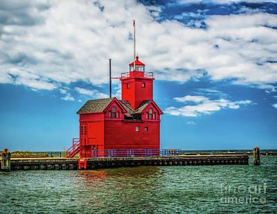 Photograph - Historic Holland Lighthouse by Nick Zelinsky