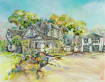 Wall Art - Painting - Historic Home Oil Painting by Kim Guthrie