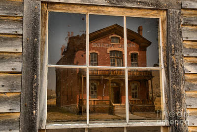 Photograph - Historic Hotel Meade Framed by Adam Jewell