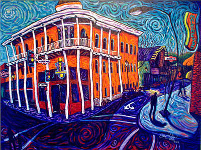 Historic Hotel Weatherford Art Print by Steve Lawton