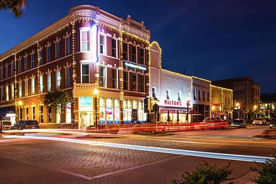 Photograph - Historic Intersection - Downtown Bentonville Arkansas by Gregory Ballos
