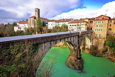 Photograph - Historic Italian Landmarks In Cividale Del Friuli, Devil's Bridg by Brch Photography