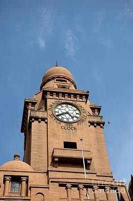 Photograph - Historic Karachi Municipal Corporation Building Clock Tower Pakistan by Imran Ahmed