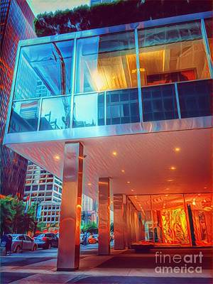 Photograph - Historic Lever House - In A New Light by Miriam Danar