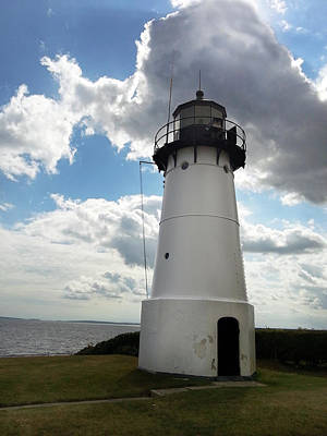 Photograph - Historic Lighthouse At Warwick Neck 002 by Lon Casler Bixby