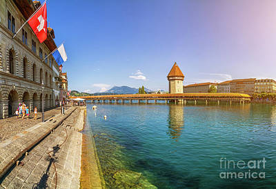 Photograph - Historic Lucerne Chapel Bridge by JR Photography