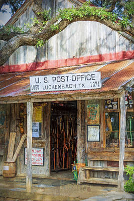 Historic Luckenbach Tx Art Print by Joan Carroll