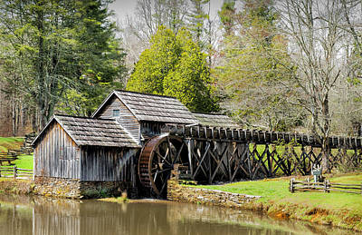 Photograph - Historic Mabry Mill In Early Spring by Betty Denise