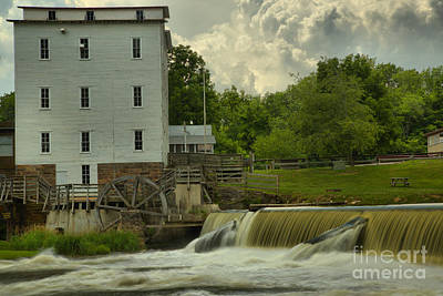 Photograph - Historic Mansfield Grist Mill by Adam Jewell