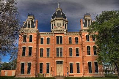 Photograph - Historic Marfa Couthouse by Adam Jewell