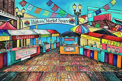 Painting - Historic Market Square by Patti Schermerhorn