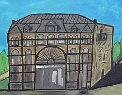 Painting - Historic Menominee Michigan Downtown Opera House Painting. by Jonathon Hansen