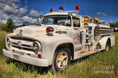 Photograph - Historic Montana Fire Truck by Adam Jewell