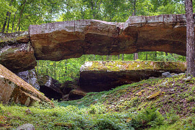 Photograph - Historic Natural Bridge Of Arkansas by Ester Rogers