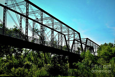 Photograph - Historic Old Moore's Crossing Bridge 18-36 by Ray Shrewsberry