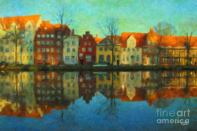 Painting - Historic Old Town Lubeck by Chris Armytage