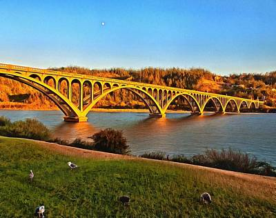 Photograph - Historic Patterson Bridge Gold Beach by Thom Zehrfeld