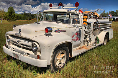 Photograph - Historic Polebridge Fire Truck by Adam Jewell