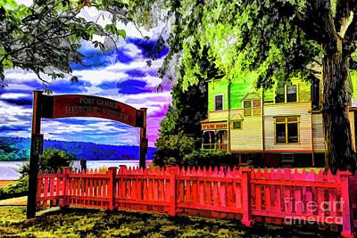 Digital Art - Historic Port Gamble by Rick Bragan