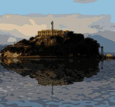 Bay Area Digital Art - Historic Prison by Michael Bergman