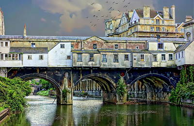 Photograph - Historic Pulteney Bridge by Anthony Dezenzio