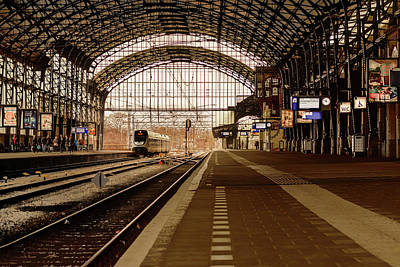 Photograph - Historic Railway Station In Haarlem The Netherland by Yvon van der Wijk