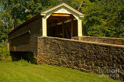 Photograph - Historic Rapps Covered Bridge by Adam Jewell