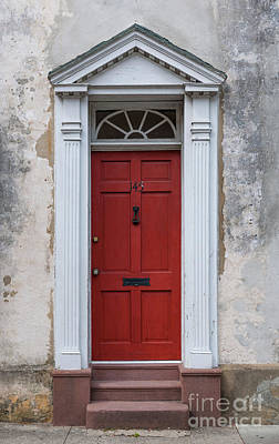 Photograph - Historic Red Door by Dale Powell